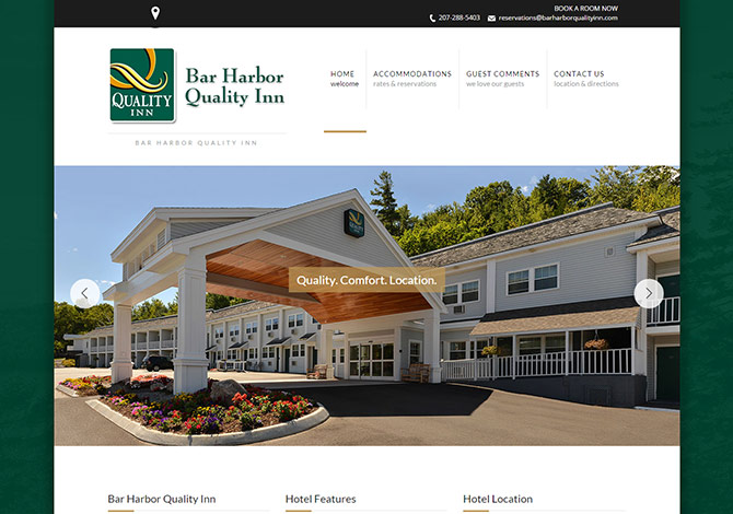 Bar Harbor Hotel Website