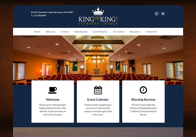 Church Website Design King of Kings C...