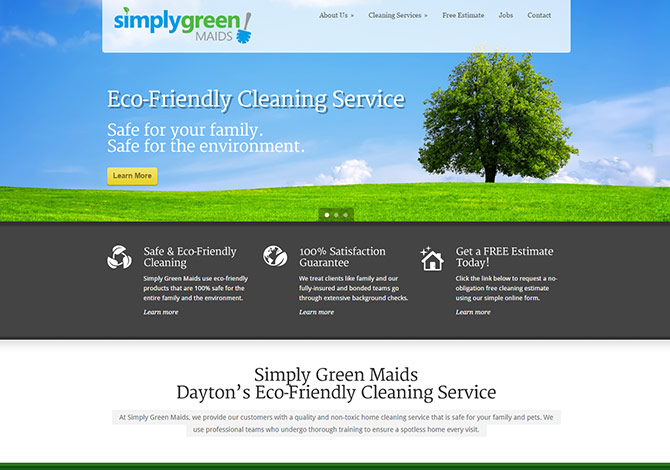 Simply Green Maids Logo & Web