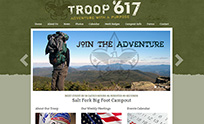 Troop Website Design